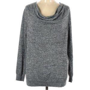 Calvin Klein Gray Cowl Neck Long Sleeve Top Medium